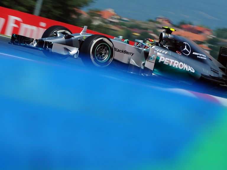 Nico Rosberg in practice for the Hungarian Grand Prix