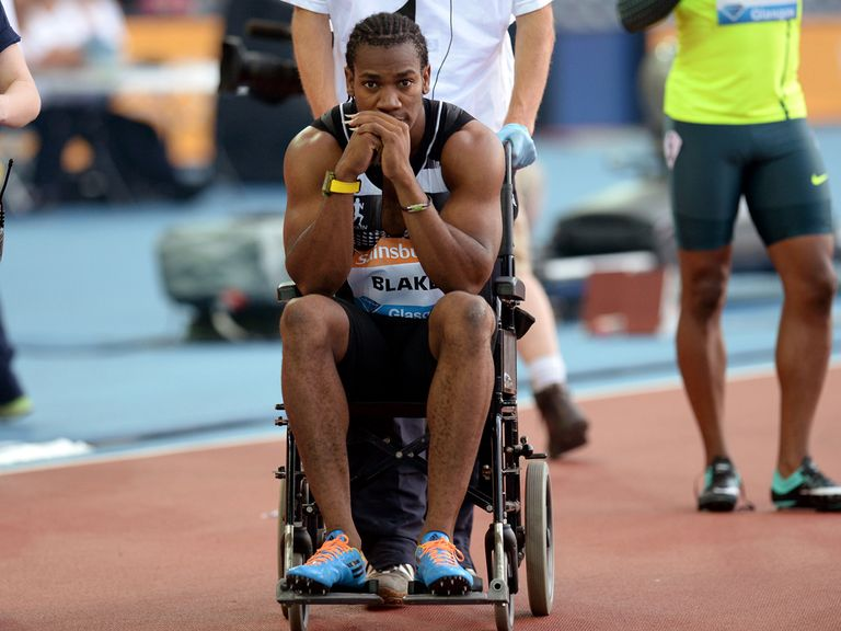 Yohan Blake leaves the track