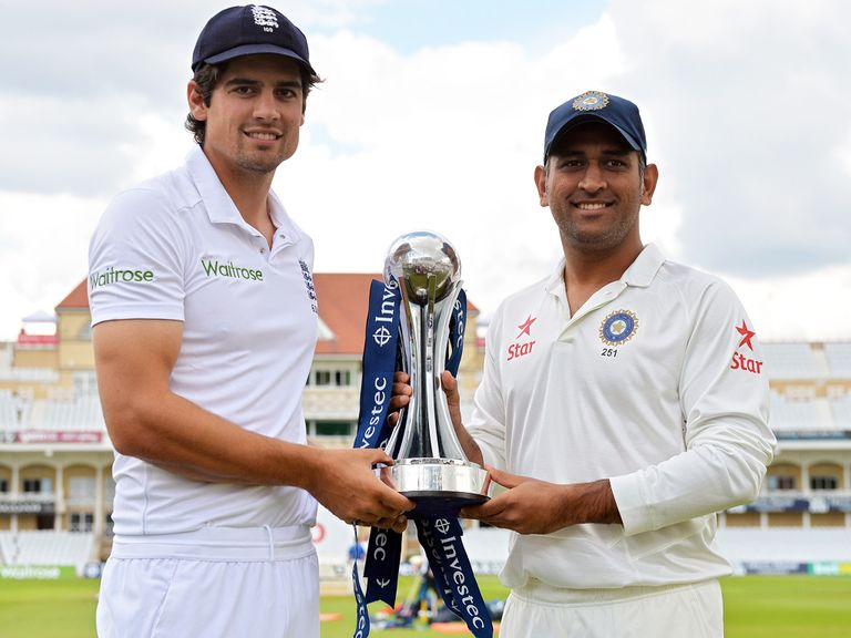 Alastair Cook and MS Dhoni's men will meet in five Tests over 42 days