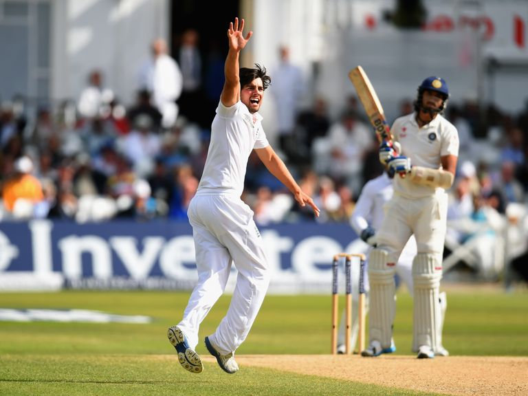 Cook: Gave himself a bowl as the first Test petered out on Sunday