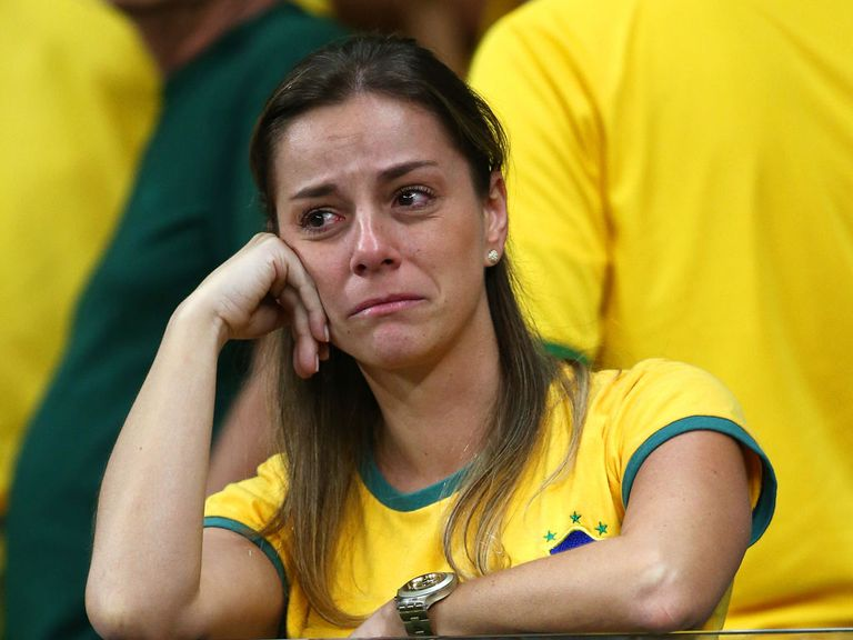 Brazil fans were left in shock a 7-1 thumping on Tuesday night