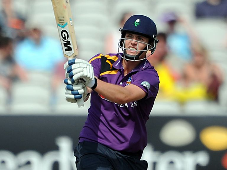 Alex Lees helped Yorkshire claim victory at Old Trafford