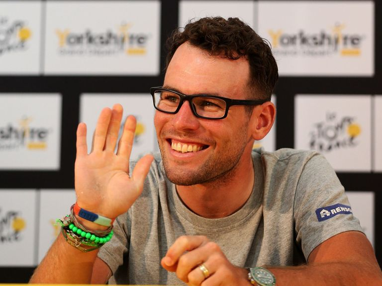 Mark Cavendish: Speaking at a press conference in Leeds
