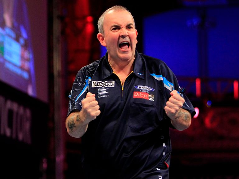 Phil Taylor: Won through in Blackpool (Photo by Lawrence Lustig PDC)