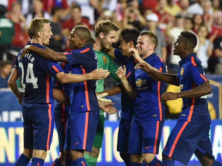 Manchester United celebrate their shoot-out success