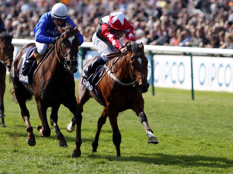 Elite Gardens ridden by Kieren Fallon beats Aktabantay (right) ridden by Ryan Moore to win the Makfi Future stars maiden stakes during day two of the 2014