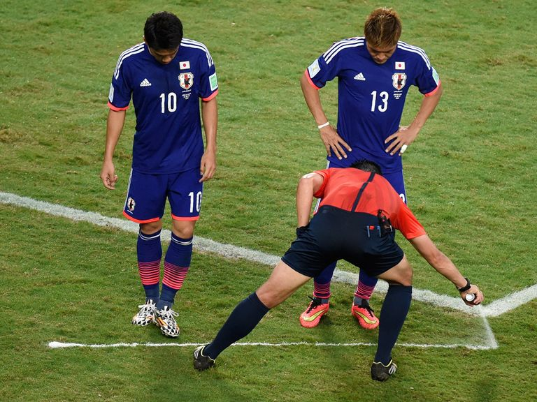 The vanishing spray has proved popular at the World Cup