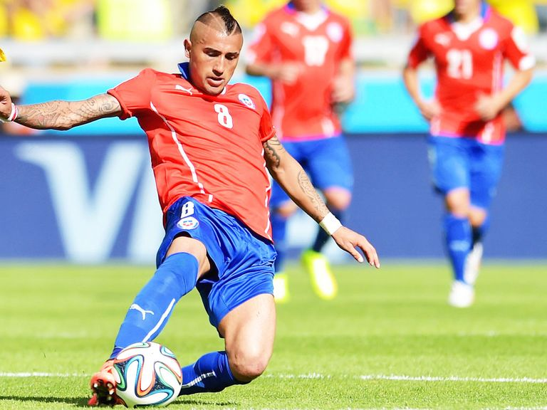 Arturo Vidal: Chile midfielder on the verge of a move to the Premier League