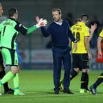 Gary Rowett: Celebrates Burton's cup success
