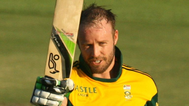 AB de Villiers: Finished up unbeaten on 136 in his side's successful run chase