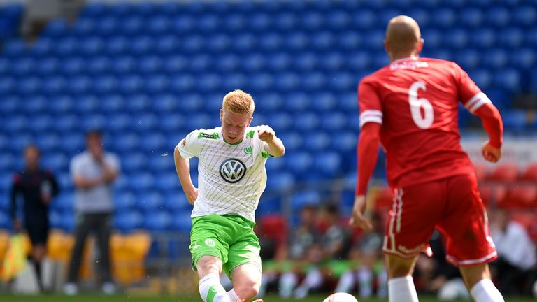 Kevin De Bruyne: Fires in Wolfsburg's second goal against Cardiff