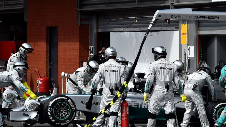 Hamilton ended up dropping out of the race with a damaged car following his clash with Rosberg