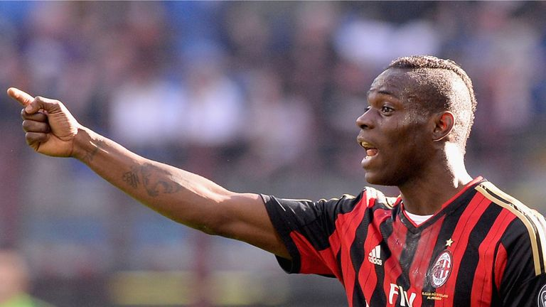 Mario Balotelli arrives in Liverpool ahead of a £16million move from AC Milan.