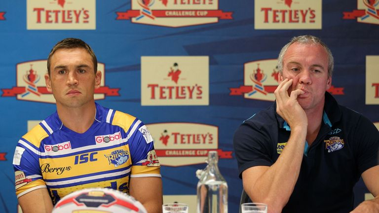Brian McDermott: Has named his Leeds Rhinos team to face Castleford Tigers