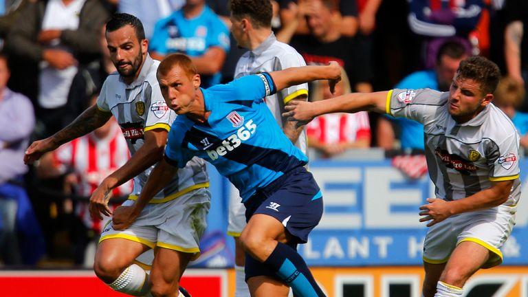 Steve Sidwell: Seeks way through for Stoke at Burton