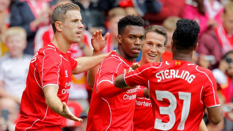 Daniel Sturridge and Raheem Sterling are praised by Liverpool boss Brendan Rodgers.