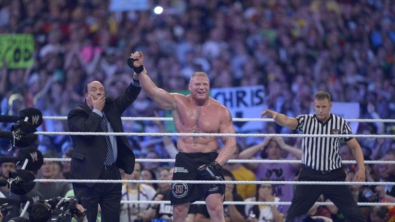 Brock Lesnar is the only man to have bested The Undertaker at WrestleMania