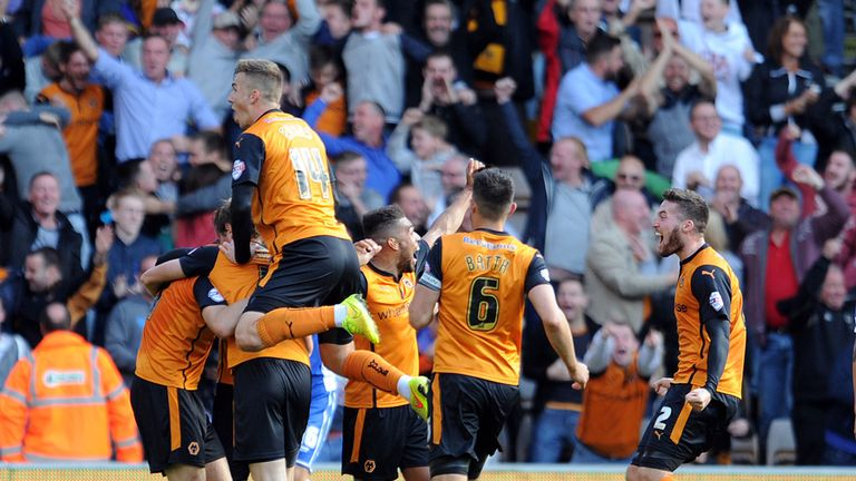 Wolves: Celebrating at Molineux