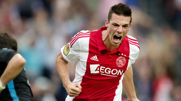 Nick Viergever: Celebrates putting Ajax ahead against Vitesse