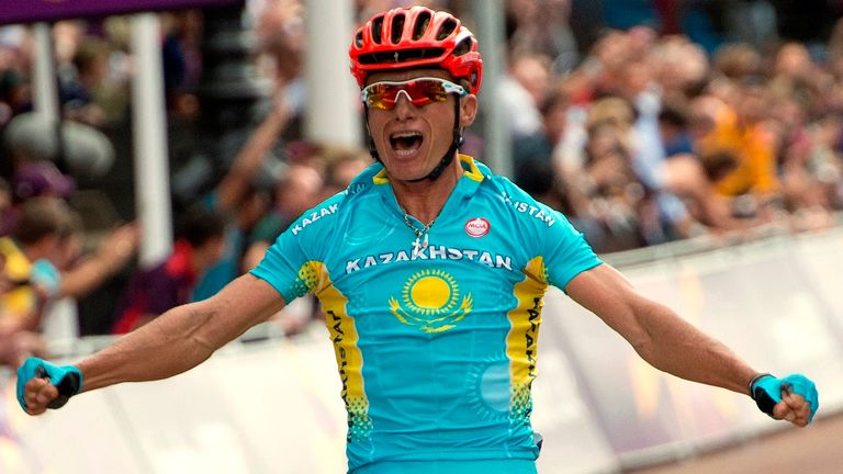 Alexandre Vinokourov won gold in the London 2012 Olympic road race