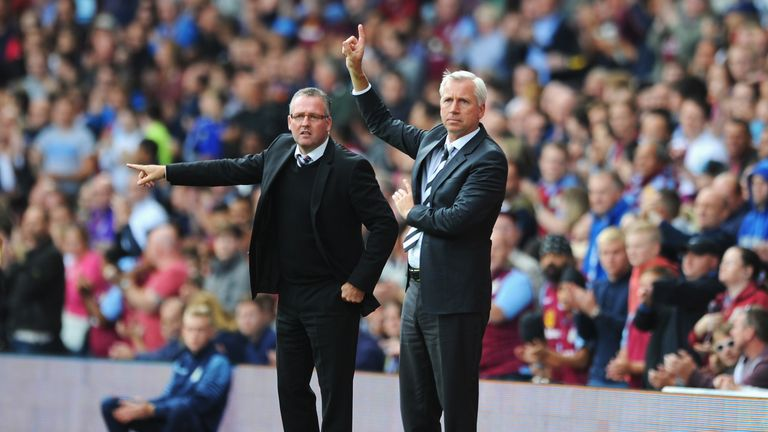 Lambert and Pardew: On the touchline
