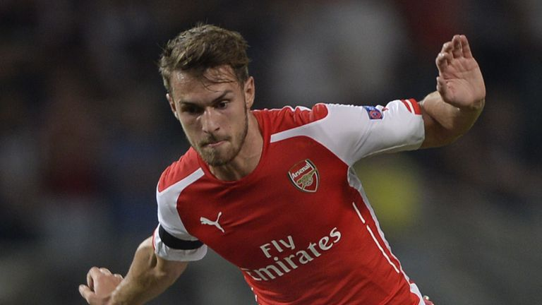 Aaron Ramsey was sent off in the Champions League qualifier first leg at Besiktas