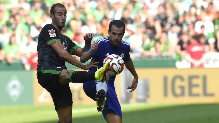 Cesc Fabregas: In action against Werder Bremen