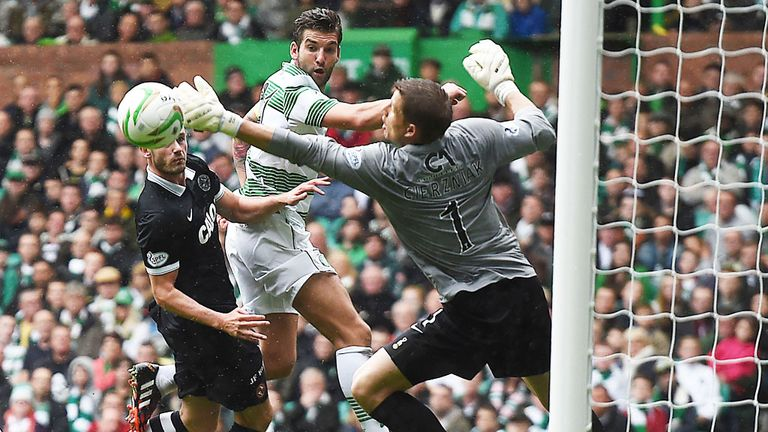 Charlie Mulgrew: the skipper scores Celtic's fourth goal