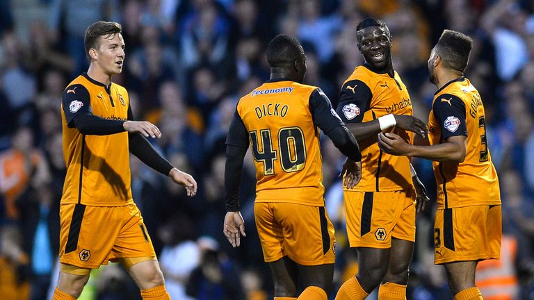 Sako: Celebrating goal for Wolves