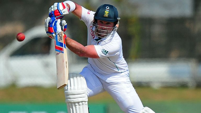 Dean Elgar: The South African played well with Faf du Plessis before falling for 61