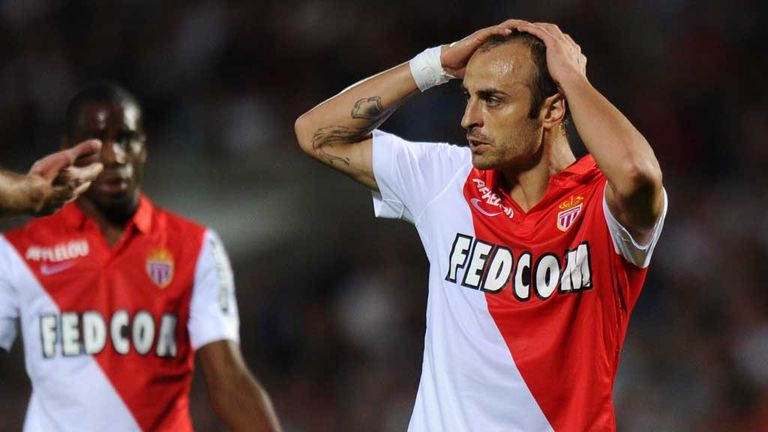 Berbatov: One of three senior strikers left at Monaco, along with Lacina Traore and Valere Germain