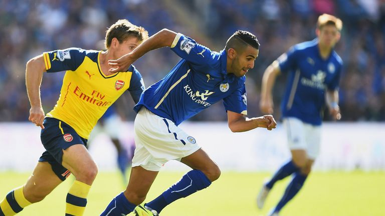 Riyad Mahrez produced an eye-catching performance against Arsenal on Super Sunday