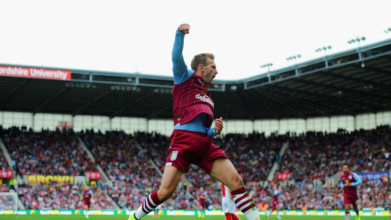 Andreas Weimann: Celebrates scoring the winner at Stoke