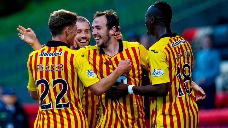 Partick Thistle: Celebrate Stuart Bannigan's opener at Firhill