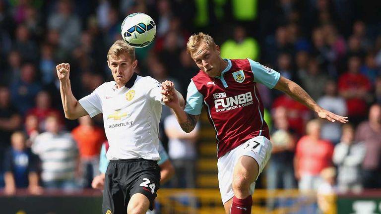 Darren Fletcher: Manchester United midfielder challenges Burnley's Scott Arfield