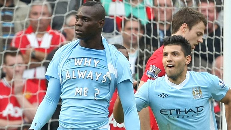 Mario Balotelli: Began his Premier League career with a stormy spell at Manchester City