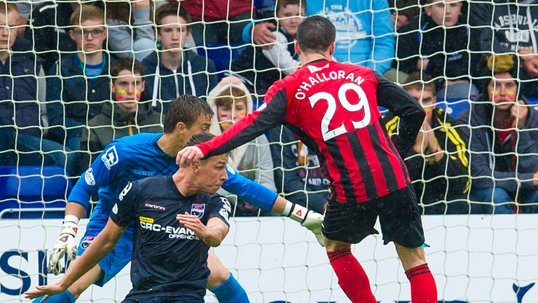 Michael O'Halloran: Slots home for St Johnstone to open the scoring