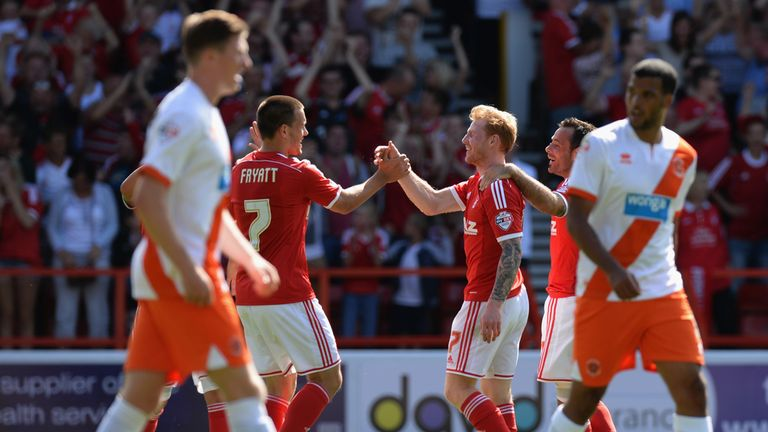Forest: things looking up for Stuart Pearce's side but not quite so good for Blackpool