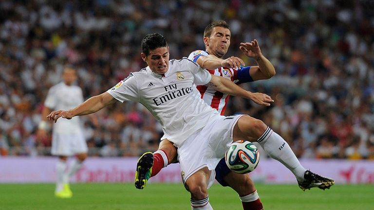 James Rodriguez: scored on his debut for Real Madrid