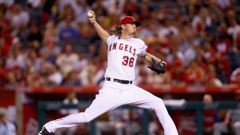 Jered Weaver: Recorded his 13th win of the season