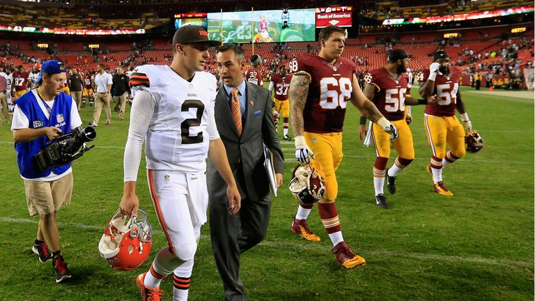 Quarterback Johnny Manziel endured a disappointing game for the Cleveland Browns