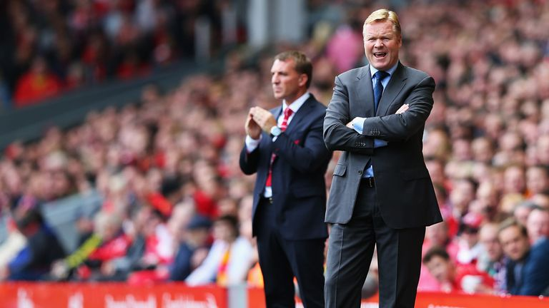 Ronald Koeman: Thinks his side had the better chances against Liverpool