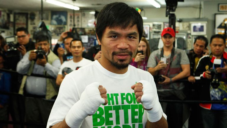 Manny Pacquiao: Defends WBO title against Chris Algieri