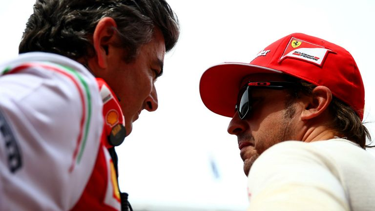 Marco Mattiacci in conversation with Fernando Alonso