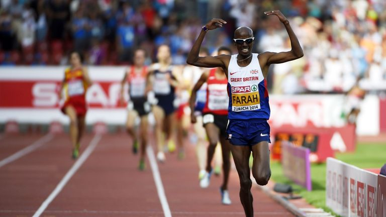 Mo Farah: Has won the distance double at Olympic Games, World Championships and European Championships