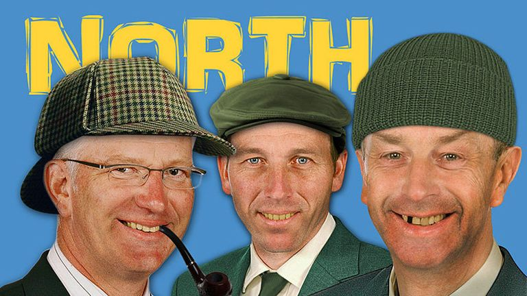 Paul Allott, Mike Atherton and David Lloyd, representing the North...