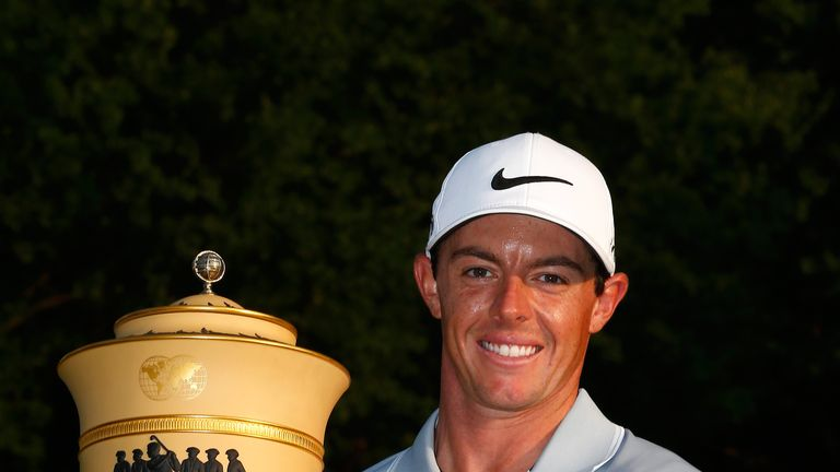 Rory McIlroy with the trophy