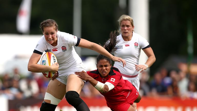 Emily Scarratt: England in for a tough game against Canada in Women's World Cup final