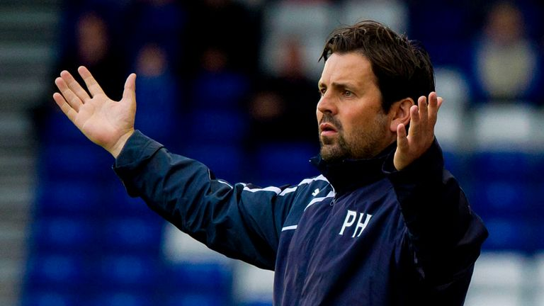 Some rare joy for Dundee manager Paul Hartley this season