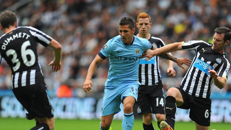 Stevan Jovetic: Happy at Manchester City